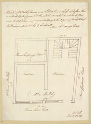 [4 Plan of property in Queen Street occupied by Mr. Maltby, dated June 14, 80. With lease details and note on property's boundary]